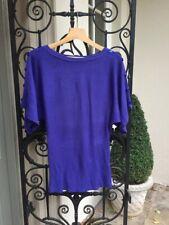 Ladies 80s style Disco Batwing Jumper,Tunic,Top,Purple Size 10,Party Fancy Dress