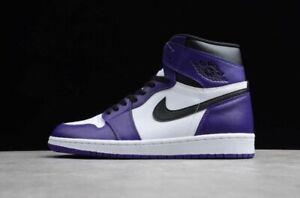 Jordan Air Retro 1 High OG Basketball Shoe Men Size 18 Court Purple 555088-500
