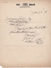 """AUTOGRAPH NOTE SIGNED by MILT GROSS with a SKETCH of his """"NIZE BABY"""" - 1929"""