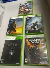 Complete SET Halo 3 and 4 Gears of War and Skyrim and FAR CRY 3 XBOX 360 x360