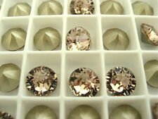 12 Vintage Rose Foiled Swarovski Crystal Chaton Stone 1088 39ss 8mm Chatons