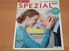 FOCUS SPEZIAL Pflegekompass: Das zahlen die Kassen Im Alter gut umsorgt Dez.2015
