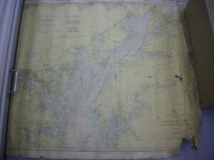 Vintage C&GS Navigational Chart 1226 Chesapeake Bay Sandy Pt to Head of Bay1942