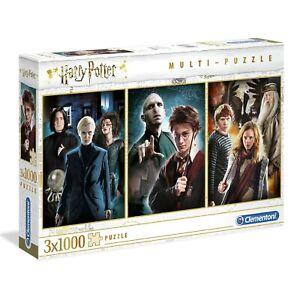 Clementoni Harry Potter 3 Pack Jigsaw Multi Puzzle 3 x 1000 pieces
