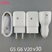 Original Fast Charging Charger USB Cable Car Charger For LG V30 V20 G6 G5