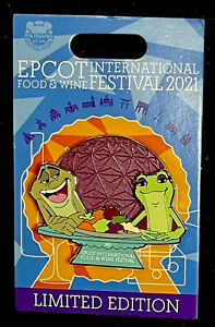 Disney Epcot Food And Wine Festival 2021 Princess And The Frog Pin LE 4500 New