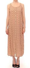 NWT LICIA FLORIO Pink Long Button Front Sleeveless Dress Gown IT42 / US8 /M