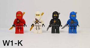 Lego Ninjago Minifigures Lot of 4 Kai Jay Zane Cole The Golden Weapons