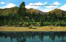 "MT Montana Alberton: ""Clark Fork River"" Unposted EC Kropp Natural Color Card"