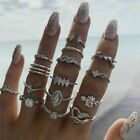 15pcs/set Retro Arrow Moon Midi Finger Knuckle Rings Boho Fashion Jewelry Gift