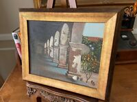 "Eugene Schmidt, ""Mission San Juan Capistrano"" Oil Painting. SIGNED. Framed."