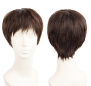 High Quality Voltron Lance Wig Brown Cosplay Short Hair Free Shipping