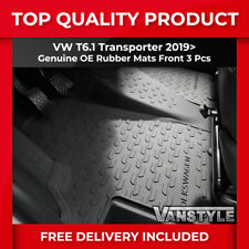 VW T6.1 TRANSPORTER GENUINE OE RHD FRONT ALL-WEATHER RUBBER FLOOR MATS 3 PIECES