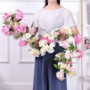 Artificial Wedding Cherry Blossoms Flower Vines Garland Arch Layout Decoration