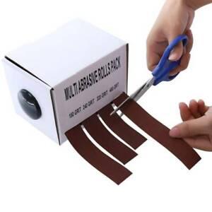 Abrasive Rolls Polishing Emery Cloth Roll Dry Grinding Sandpaper Belt Box25mm*6m