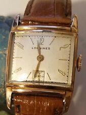 Rose Gold Filled Wristwatch Vintage Rare Longines 1940 Men's