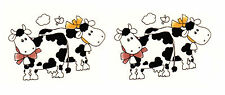 Ceramic Decals Cute Cows with Bows and Bells