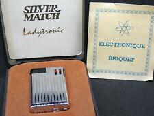 Ancien BRIQUET SILVER MATCH Ladytronic fond de commerce jamais utilisé