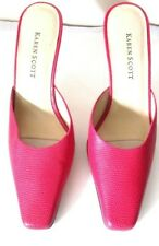 KAREN SCOTT Pink Leather Slides Sandals Size 6M