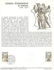 DOC. PHILATÉLIQUE - CONGRES ÉCONOMIQUE ET SOCIAL - 1977 YT 1957