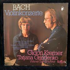 GIDON KREMER violin - BACH Violin Concertos Grindenko - EURODISC QUAD ST LP 1977