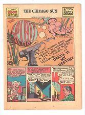 THE SPIRIT weekly newspaper comic Chicago Sun Sunday Oct 4 1942 vintage Eisner