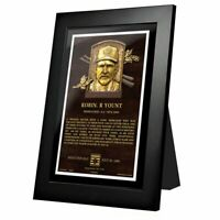 """Robin Yount Milwaukee Brewers Hall of Fame Gallery Photo (Size 10"""" x 12"""") Framed"""