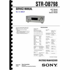 Sony STR-DB798 Stereo Receiver Service Manual (Pages: 96) 11x17 Drawings