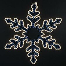 "36"" Christmas Snowflake Incandescent Rope Light Sculpture, Frosted White/Blue"