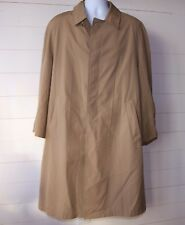 Vintage Brooks Brothers Sz 42 Tan Button Front Trench Coat USA