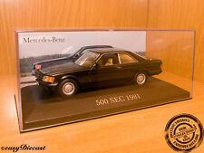 MERCEDES-BENZ 500SEC 500-SEC BLACK 1981 1:43 MINT!!!