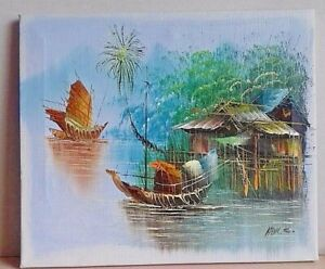 LOVELY OIL PAINTING ON CANVAS ~ SIGNED AND IN IMMACULATE CONDITION!!!