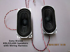 SONY Bravia KDL32L400 Speakers 8 Ohms 10 Watts PN:1-826-946-11 w Wiring Harness