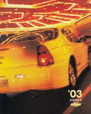 CHEVROLET SSR Imapla Corvette 50 Anniversary Prospekt Brochure USA 2003 /53