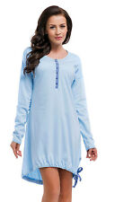 DN Nursing 100% cotton nightdress nightshirt 8 10 12 14  breastfeeding 5070