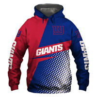 Newest New York Giants Hoodie Hooded Pullover Coat Football Team Fans Gift