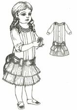 """Sewing Pattern fits 13-14"""" Doll Dress Victorian German French Little Darling"""