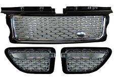 Range Rover sport grille+side vent Autobiography conversion kit black+chrome new