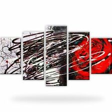 Abstraktion Rose Leinwandbilder Kunstdruck Mehrteilig