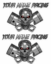 LARGE 2-SET Custom Name Truck Trailer Motorcycle Graphics Decals Stickers Racing
