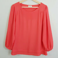 JEANSWEST | Womens Soft red Blouse / Top [ Size AU 12 or US 8 ]