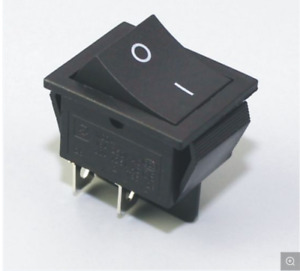 KCD2 ROCKER SWITCH 6A 250V 20x15mm (aprox) 4PINS ''IMAGE FOR REF' ON/OFF