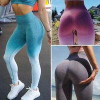 Womens Seamless Yoga Fitness Leggings Running Gym Sport High Waist Pants Trouser