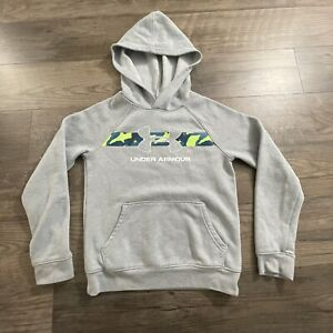under armour youth cold gear gray hoodie sz small