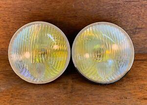 "Original Marchal Equilux Headlights 7"" Lamps - Nice! Ferrari Porsche"