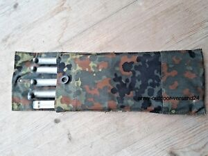 5 Original Bundeswehr Zelt Heringe MIT TASCHE Alu Zeltheringe Erdnagel Hering BW