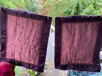 2 Aubergine Deep Purple Veratex Large PIllow Shams, Excellent Condition
