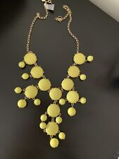 JCrew Bubble Necklace, Yellow Sun, NWT, $150