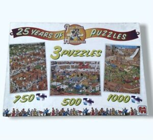 Jan Van Haasteren 25 Years of Puzzles 500, 750 and 1000 Pieces GC Complete HTF