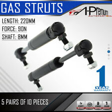 5 Pairs Gas Struts Springs for Trailer Tool Box Caravan Cabinet Canopy 220MMx90N